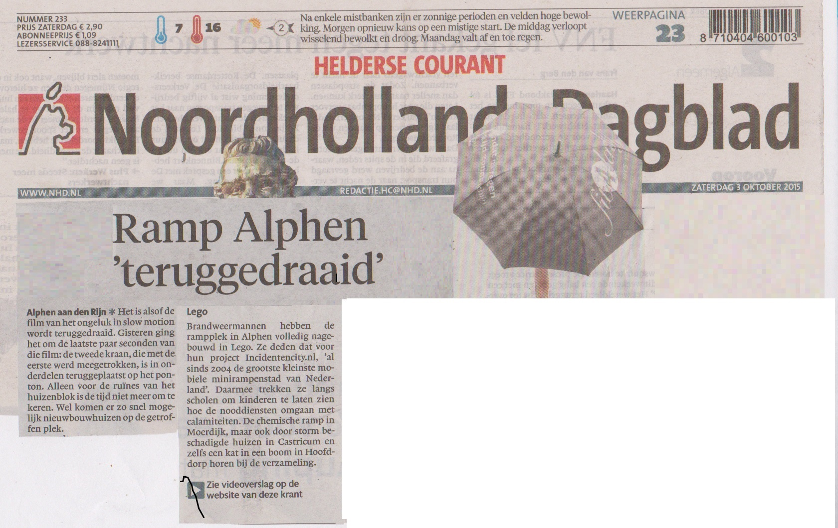 Noord Hollands dagblad 3 okt
