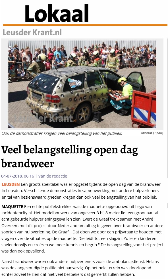 leusden opendag media IncidentenCity juli 2018
