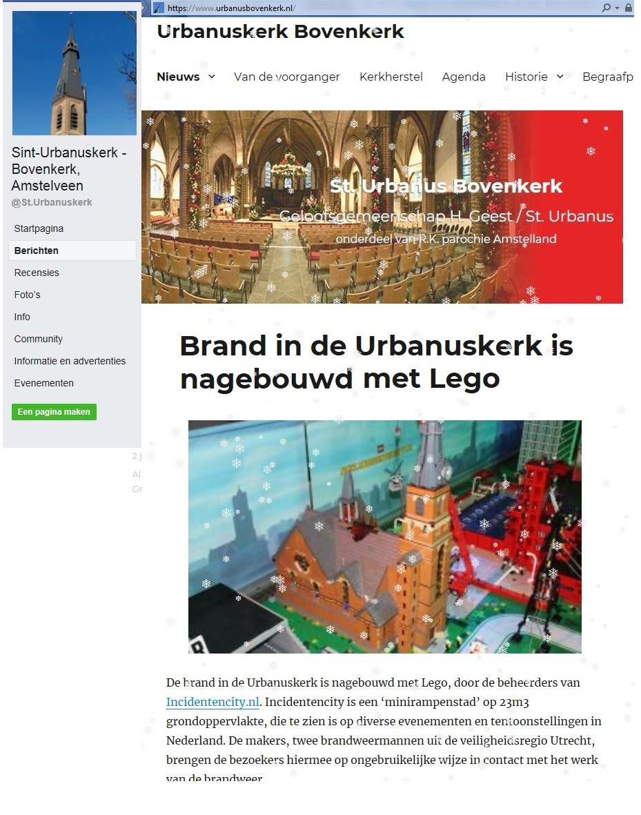 FACEBOOK Sint Urbanuskerk kerst 2018 Incidentencity