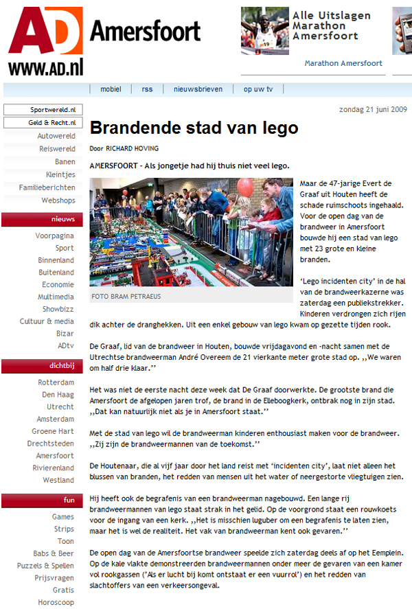 lego incidenten city ad amersfoort
